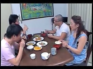 Asian Family Japanese Mature Mom Old and Young