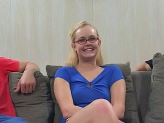 Blonde Cute Glasses Teen