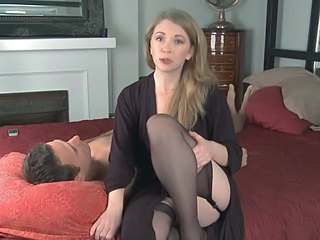 Amazing Cuckold Cute MILF Stockings Wife