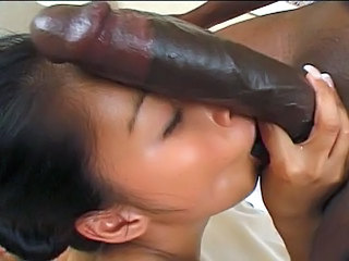 Asian Big cock Blowjob Interracial