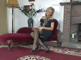 Amazing British European MILF Stockings