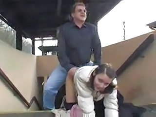 Clothed Doggystyle Old and Young Outdoor Public Teen Young