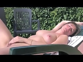 Brunette Masturbating Mature Outdoor Small Tits