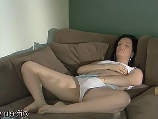 Brunette Cute Masturbating Panty Teen