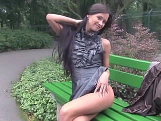 Amazing Brunette Cute Long hair Public
