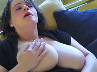 Big Tits Brunette Masturbating Mature MILF