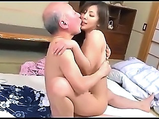 Cute Japanese Kissing Old and Young