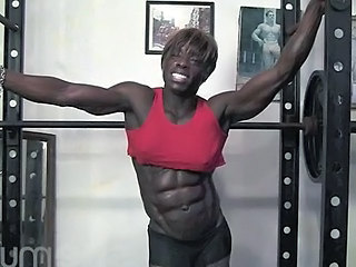Ebony MILF Muscled Sport