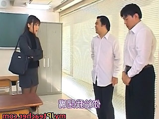 Asian MILF Pornstar School Stockings Teacher
