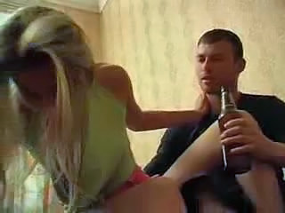 Amateur Blonde Drunk Sister