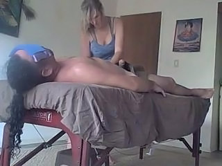 Big Tits Blonde Massage MILF