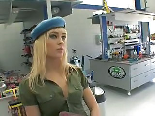 Army Blonde Cute Small Tits Teen