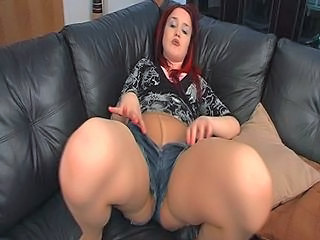 Joufflue MILF Collants Rousse