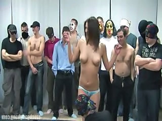 Brunette Bus Gangbang Natural Panty