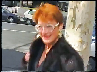 Amateur French Glasses Mature Outdoor Redhead