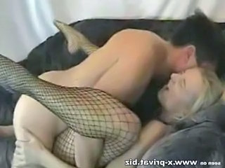 Amateur Blonde Fishnet Hardcore