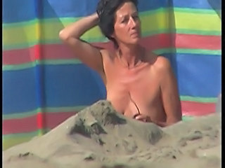 Amateur Beach Brunette German Mature Nudist Outdoor