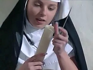 Cute Masturbating Nun Toy Young