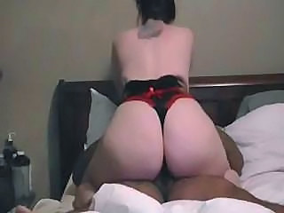 Ass Brunette Interracial Lingerie MILF Riding Wife