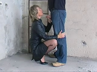 Blonde Blowjob German Handjob MILF Stockings