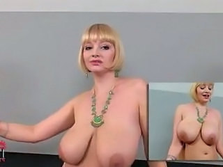 Big Tits Blonde Cute Dancing MILF