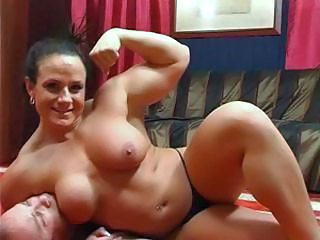 Big Tits Brunette MILF Muscled Panty