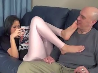 Brunette Cute Feet Fetish Latex Teen