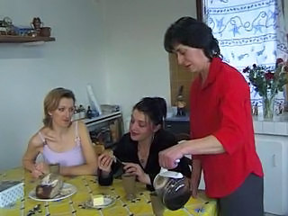 Amateur Family French Kitchen Mature Threesome