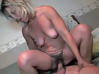 Amateur European French Hairy Mature MILF Riding SaggyTits