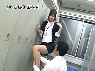 Amazing Asian Japanese Office Secretary Uniform