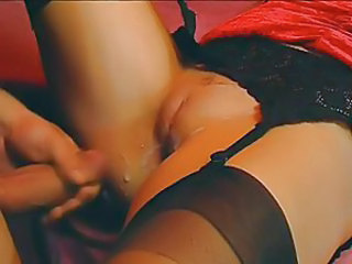 Close up Creampie Cumshot Lingerie Pussy Shaved Stockings
