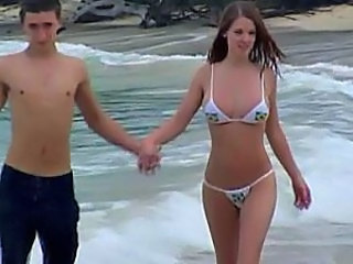 Amazing Beach Bikini Cute Girlfriend Outdoor Teen