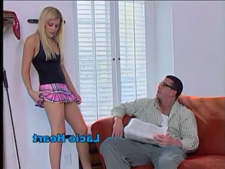 Amazing Blonde Cute Daddy Daughter Skirt Teen Young