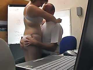 Amateur British European Lingerie MILF Office