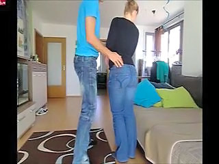 Amateur Ass Girlfriend Jeans