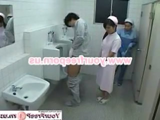 Amateur Asian Maid Threesome Toilet Uniform