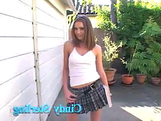 Amateur Cute Interracial Outdoor Skirt Young