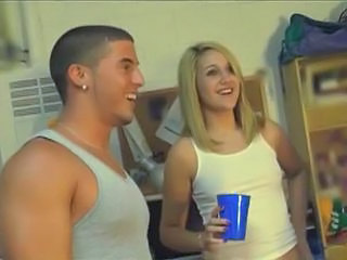 Amateur Blonde Cute Drunk Small Tits Student Teen Young