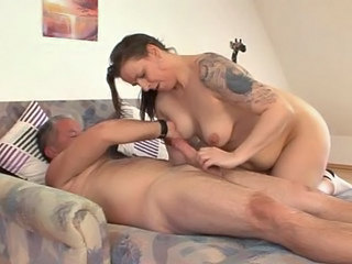 Amateur Big cock Brunette German Handjob Mom Tattoo