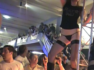 Amateur Dancing Panty Party Stockings Stripper
