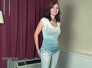 Amateur Bus Casting Cute Jeans