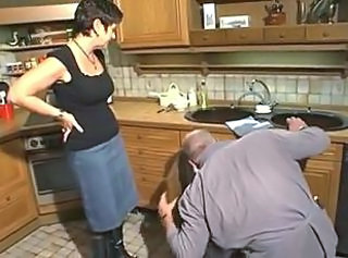 German Kitchen Mature Wife