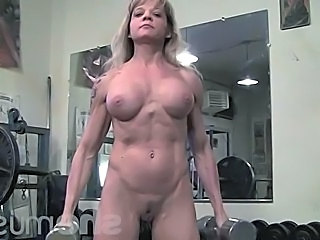 Big Tits Blonde Mature Muscled