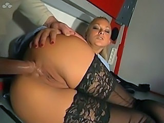 Anal Babe Blonde French Hardcore Pornstar Pussy Shaved Stockings