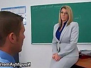 Big Tits Blonde Mature Pornstar School Teacher