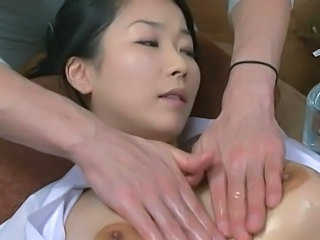Asian Big Tits Massage MILF Oiled Wife