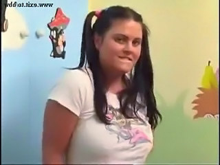 Amateur Brunette Chubby Pigtail Teen