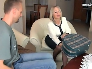 Blonde Feet MILF Pantyhose