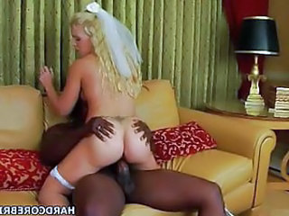 Ass Blonde Bride Hardcore Interracial Riding