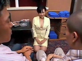 Japanese MILF Pornstar Threesome